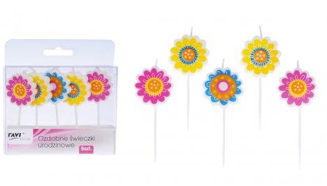 ozdobne świeczki urodzinowe kwiatki sklep zabawkowo bezpieczne i